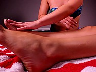 Skillful masseuse pleases good-looking clients with unforgettable and well-done massage 11