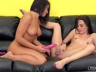Ardent brunettes Adriana Chechik and Dallas Black have amazing lesbian foreplay 3