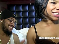 Bearded lovelace spanked oiled butt cheeks of black MILF before severe fuck 5