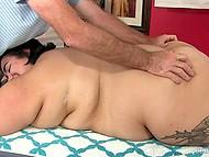 Masseur prepared special massage with several vibrators for his pretty BBW client 3
