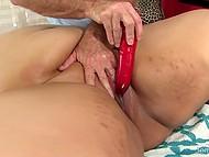 Masseur prepared special massage with several vibrators for his pretty BBW client 6