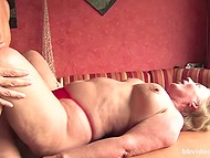 Man teased pussy of big-breasted mature German before nice blowjob and hot sex 10