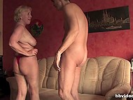 Man teased pussy of big-breasted mature German before nice blowjob and hot sex 11