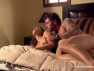 Muscular stud and stunning Latina MILF Daisy Marie came in bedroom for passionate affair