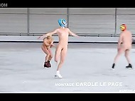 Figure skater and two partners skate naked and take bath together in movie 'Apnée'