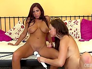 Lesbians MILFs know how to make real show at casting where sex toys are welcomed 7