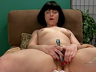 Hairy girlfriend with perfect tight body loves to screams when she puts vibrator on clit 9