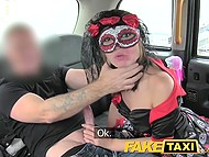 Italian girl parts with boyfriend at carnival but taxi driver quickly cheers her up in backseat 6