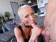 Short-haired MILF has big ass and her tight pussy wants a strong dick right now