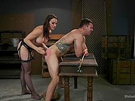 Dominant female knows how to make man cry and have fun at the same time 7