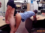 Arab doll enters pawnshop to pay for some things on bail and gets fucked by pawn keeper 7
