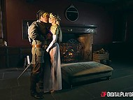 Elvish queen let faithful servant fuck her after long time without sex being imprisoned 4