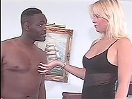 Dark-haired courier comes in right time to throw a leg to seductive Danish blonde 3