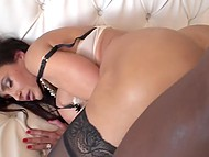 Black worker came to repair the door but well-shaped cougar Lisa Ann had other plans 8