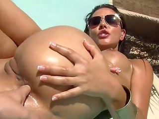 POV sex with busty girl outdoors