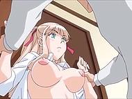Очкастый паренёк не упускает ни единой возможности трахнуть сводную сестру в аниме порно видео