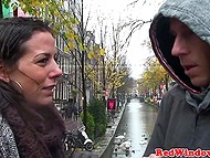 There was windy and rainy in Amsterdam, so brunette MILF brought tourist to brothel for warming up 4