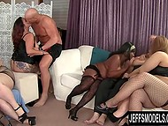 Group of lustful BBWs got their boobers measured before taking part in extreme orgy 4