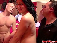 Tourist finds right guy to show him Amsterdam brothel and soon fucks brunette hooker 10