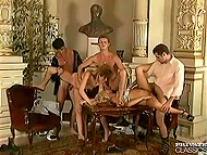 Amazing group act of nice whores satisfying horny dicks of presented men simultaneously 6