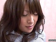 Old pervert goes mad about tickling young Japanese babe's clitoris in XXX video 7