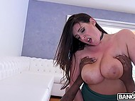Busty MILF takes initiative in her hands to get his black cock for unforgettable pleasures 10