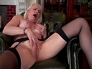 Woman in years comes to fulfill her dirty sexual desires and stimulate clitoris as well 11