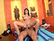 Passionate brunette is getting horny when strong male tries to satisfy her by drilling tight ass 7