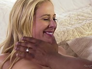 Black guy knows how to console sexy MILF in soft bed using his mighty horn 4