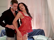 Macho made love to amazing colleen and erupted thick sperm on her beautiful legs 4