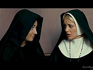 In order not to get bogged down in sin blessed nuns are checking pussy of young girl for virginity 9