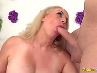 Mature woman stimulated tattooed vagina and had awesome sex with muscular dude 8