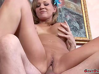 Beautiful babe with big tits saddles guy's cock like a real professional equestrian
