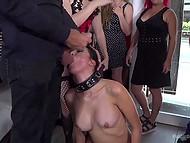 Вечеринка в клубе понравилась всем, когда извращенцы привели рабыню и выебали при всех