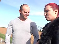 Red-haired French received huge amount of money to serve two males properly 6