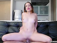 First casting of beautiful lady was successful and partner satisfied her filthy desires 6