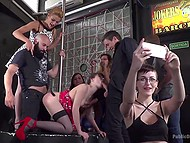 Wonderful blonde is preparing nice girl for crazy party with lascivious people