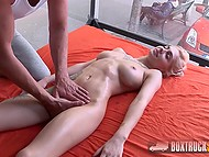 Delicate blonde comes to casting for amazing fuck and unbelievable orgasm 6
