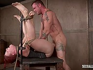 Debauched males tie up tempting colleens and fuck them hard in room of pleasure 4