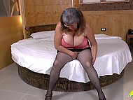 Big-boobied old Latina grabbed a couple of sex toys to remember youth alone 3