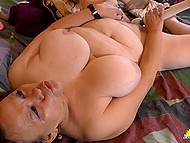 Big-boobied old Latina grabbed a couple of sex toys to remember youth alone 8