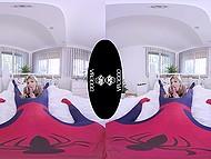 Nice VR XXX video where petite teen Gina Gerson rewards Spider-Man with sex 4