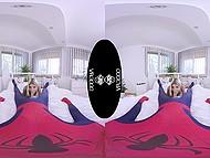 Nice VR XXX video where petite teen Gina Gerson rewards Spider-Man with sex 5