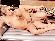 Blonde decides to give her friend massage and also to satisfy his passion 9