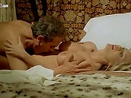 Sexual adventures of busty blonde makes her pass thru all types of pleasure in this Italian film 10