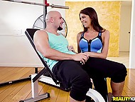 Bald instructor showed how strong he is that's why easily got access to beauty's vagina 3