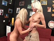 Two petite blondes get together to have real fun and satisfy their lustful needs 6