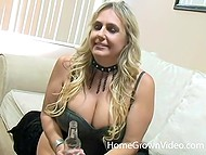 Favorite occupation of this blonde MILF is to suck black dicks of adult men 4