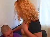 Curly Danish blonde is new in porn industry but she readily goes for anal in the very first scene 6