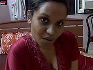 Vicious Indian MILF likes to show boobs on camera as well as improve sucking skills on dildo 3